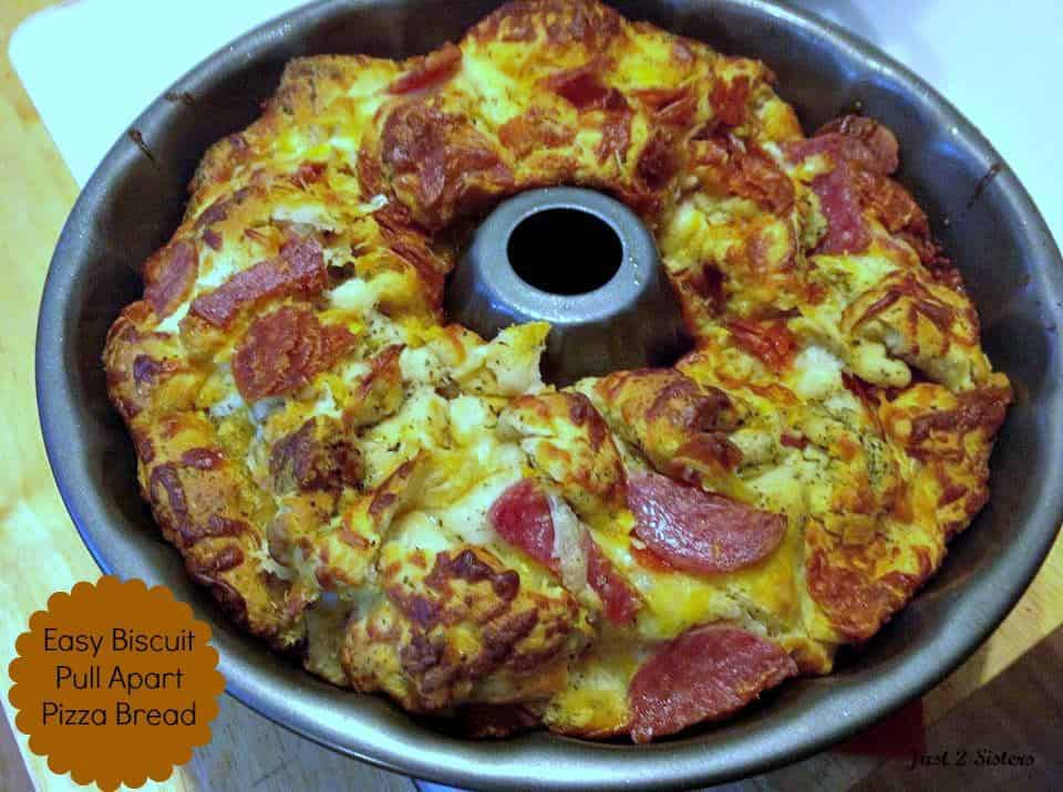 Easy Biscuit Pull Apart Pizza Bread Recipe!