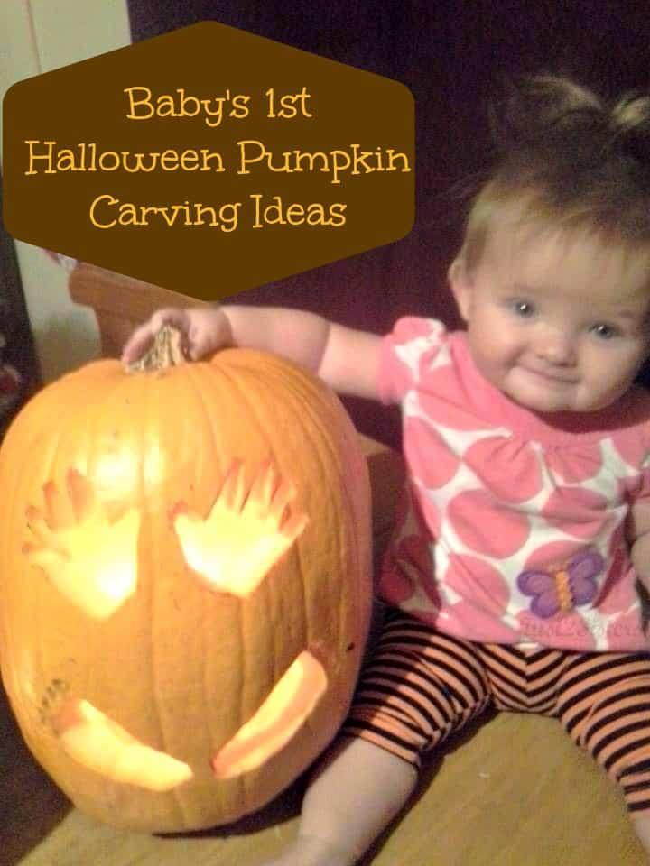 Baby's 1st Halloween Pumpkin Carving Ideas