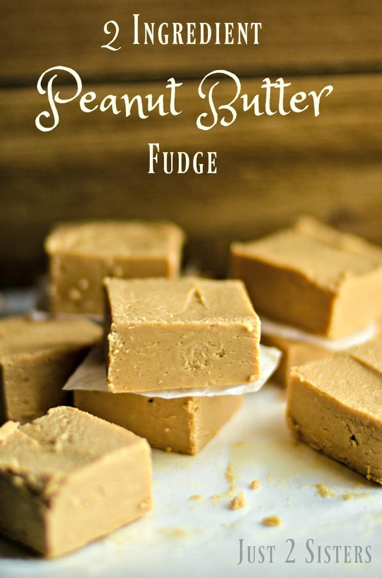 2 Ingredient Peanut Butter Fudge is easy and delicious. It's the perfect sweet treat for bake sales, family gatherings and gifts. You can never go wrong with peanut butter!