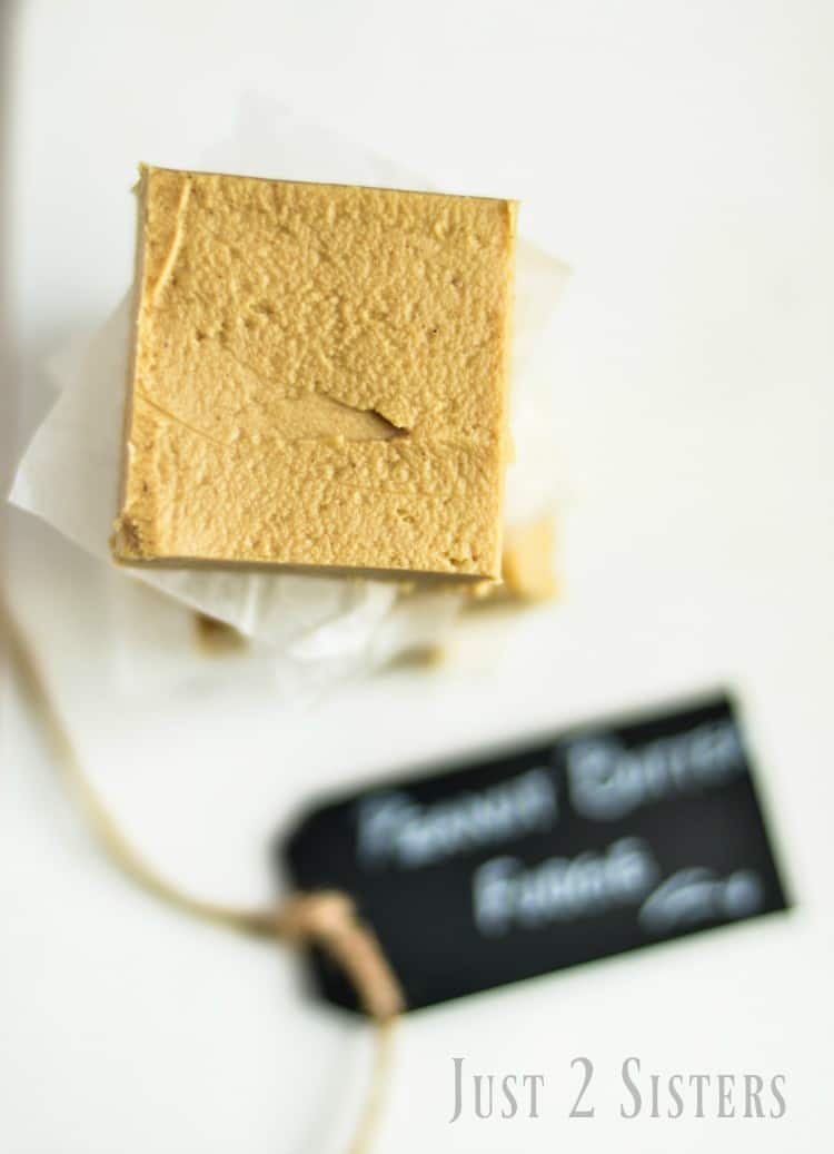 2 ingredient peanut butter fudge is a family favorite.