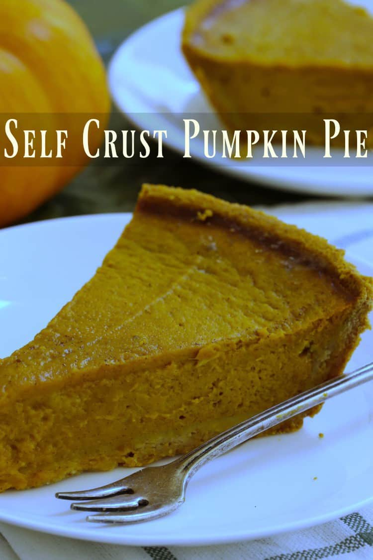 Self Crust Pumpkin Pie takes the work out of Thanksgiving dessert.