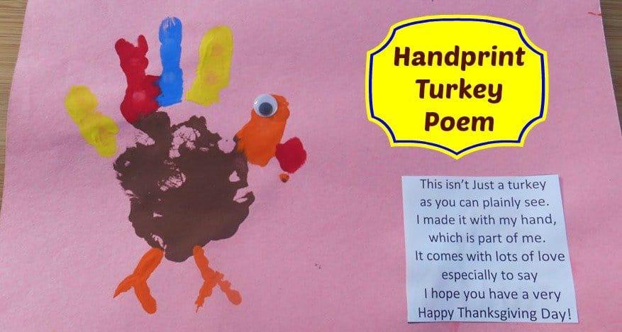 handprint turkey poem