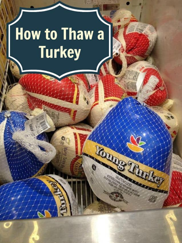 Make sure your holiday table is safe for all. Learn how to thaw a turkey so your are ready for a big day of cooking and eating!