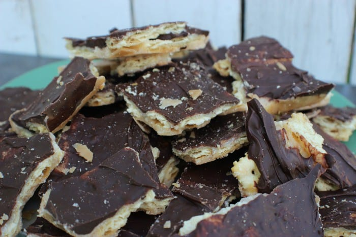 A plate full of cracker candy.