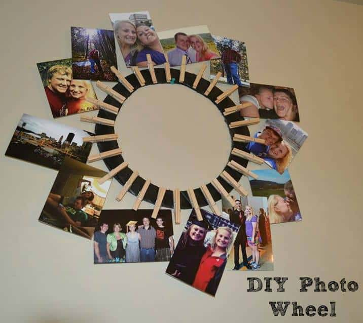 Photo Wheel DIY  #christmas #giftgiving #DIY