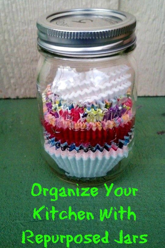 Organize Your Kitchen with Repurposed Jars