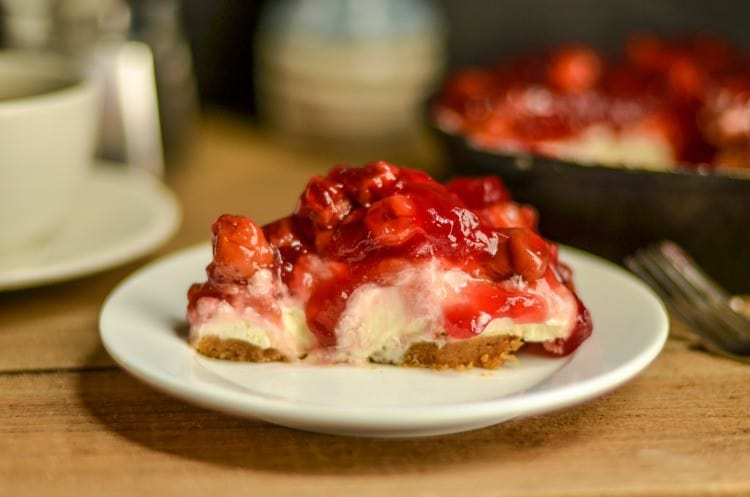 This No Bake Cherry Cheesecake dessert is something I have been making for 25+ years. It's been a family favorite for a long time and I make sure the ingredients are always on hand.