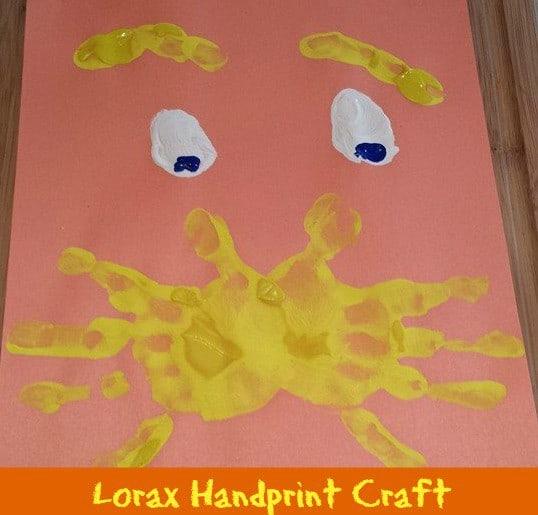 Lorax Handprint Craft