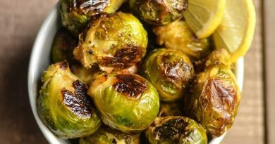 Oven Roasted Brussels Sprouts are easy to make, low in weight watchers points, and they're delicious!