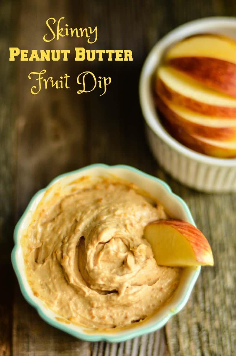 Skinny Peanut Butter Fruit Dip