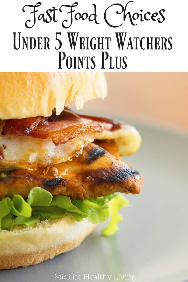 Weight Watchers Points Plus Fast Food