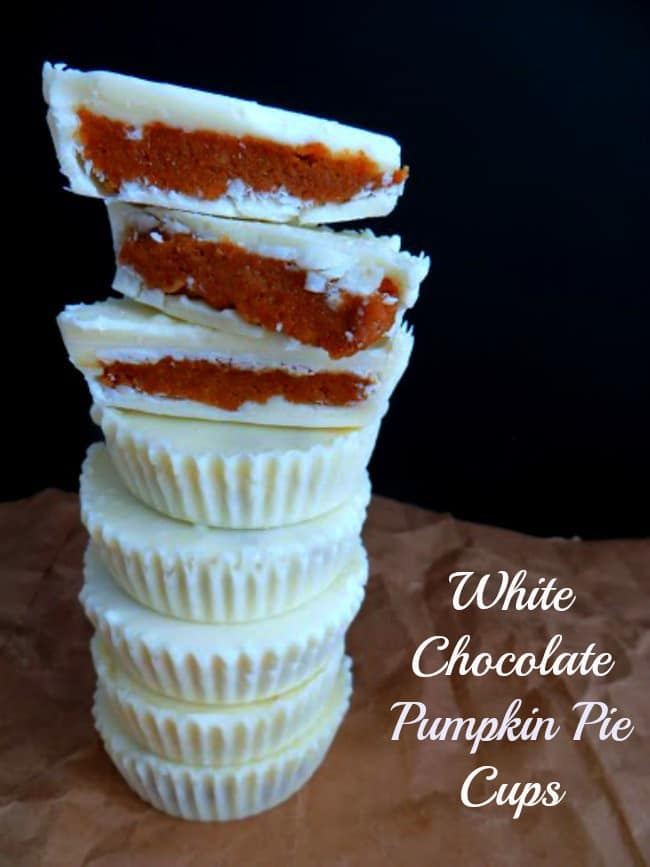 White Chocolate Pumpkin Pie Cups Recipe. These sweet treats are the perfect fall desserts. Pumpkin all wrapped in a blanket of white chocolate will become a family favorite.