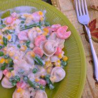Easy Creamy Vegetable Tortellini Recipe
