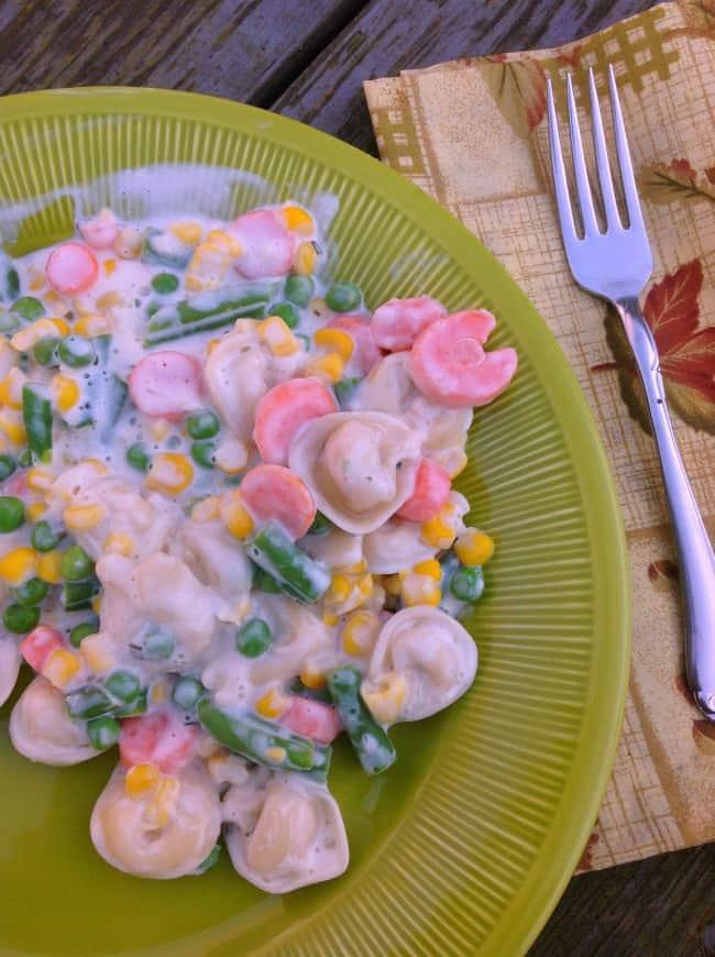 creamy vegetable tortellini