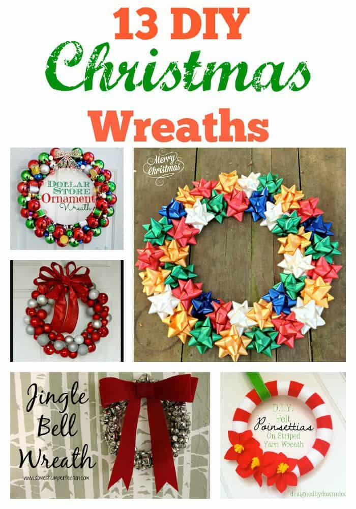 DIY Wreaths are fun to make and add a personal touch to your Christmas decor.