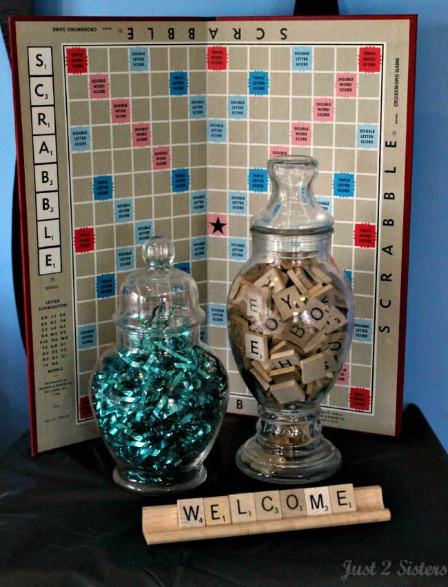 scrabble party welcome