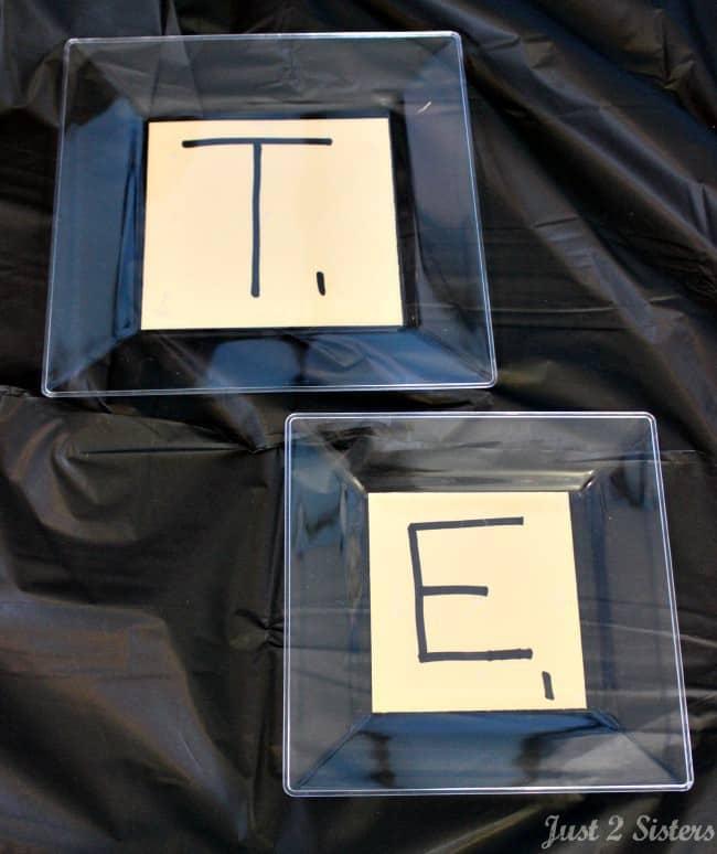 scrabble tile plates