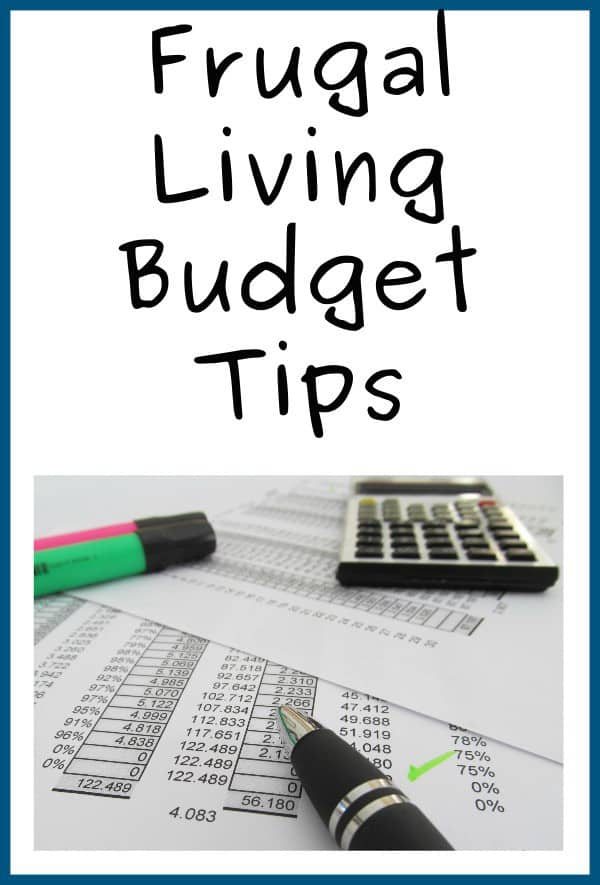 Frugal Living Budget Tips
