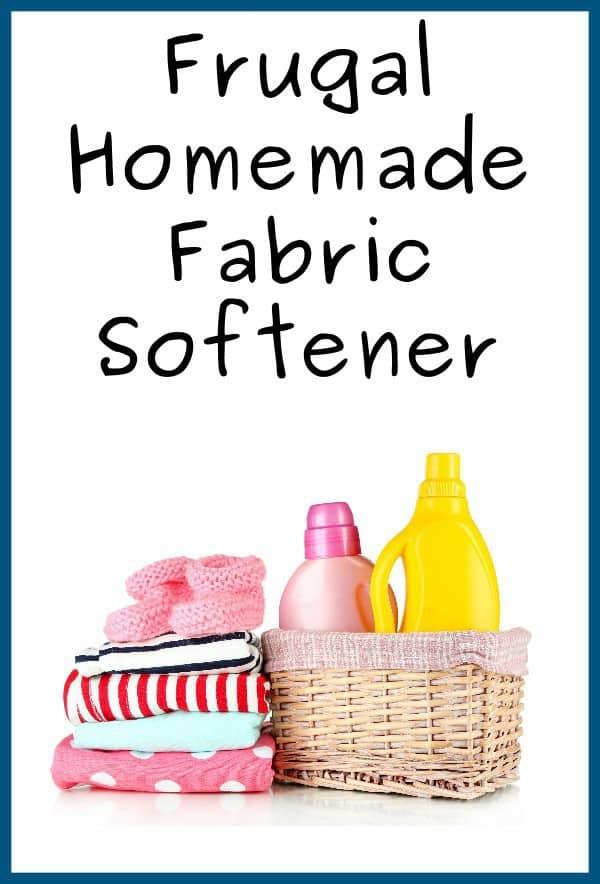 Easy Frugal Homemade Fabric Softener