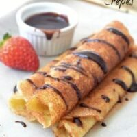 Dessert Crepes with Chocolate Sauce