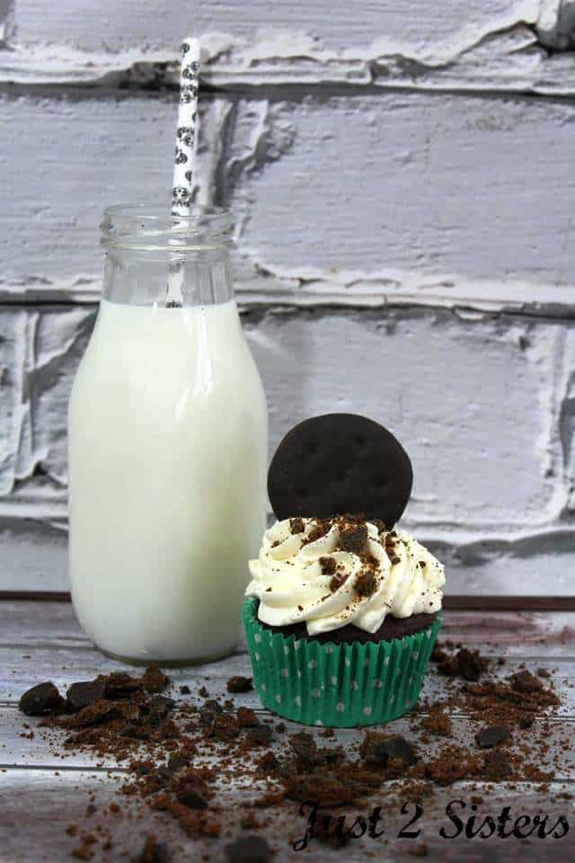 It's Girl Scout Cookie time! Stock up and make Thin Mint Cupcakes.