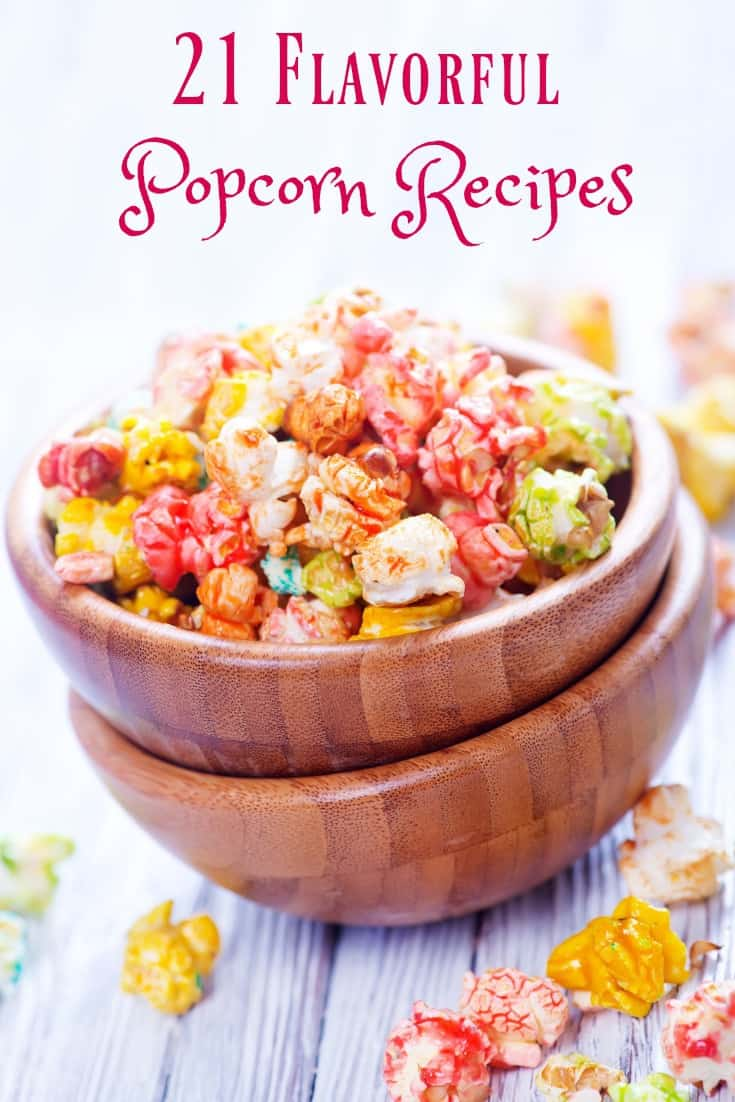 Inspired by our love of popcorn treats here is a sampling of 21 Flavorful Popcorn Recipes. Salty, sweet, mix-in's, coatings; which is your favorite?  Sweet Flavorful Popcorn Recipes