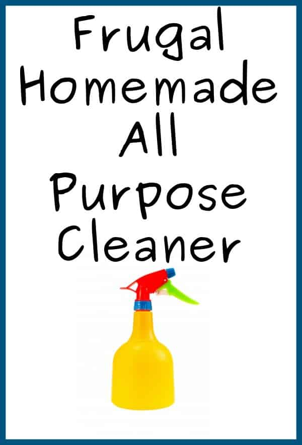 Frugal Homemade All Purpose Cleaner