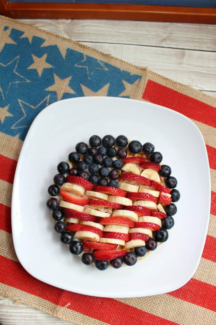 Patriotic Flag Waffles Recipe. Celebrate the USA with a delicious fruit filled breakfast.