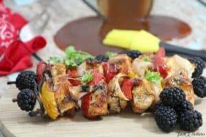Chicken Kabobs with Blackberry BBQ Sauce