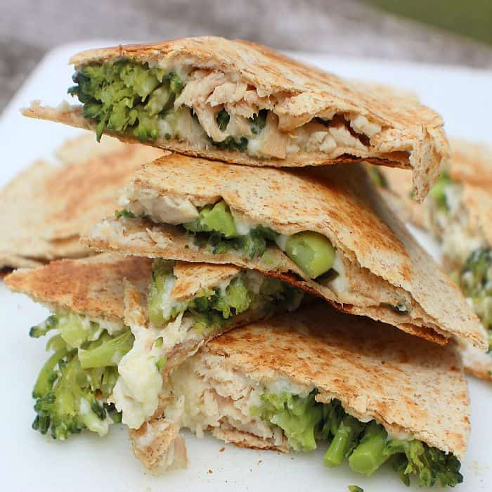 Turkey Broccoli Quesadillas. Use Shady Brook Turkey Breast for easy weeknight meals.