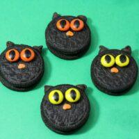 Black Cat Halloween Cookies