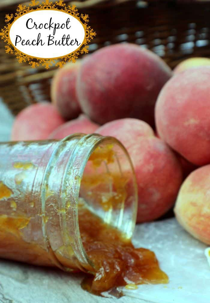 Crockpot Peach Butter