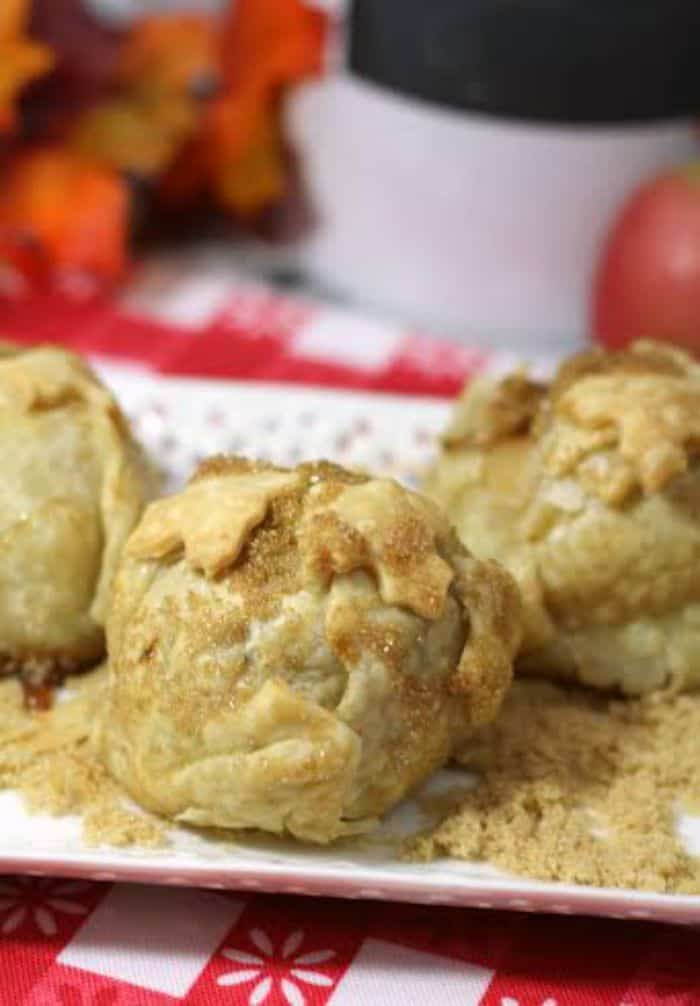 Homemade apple dumplings will be your new favorite this fall. Serve warm with vanilla ice cream for a simple tasty dessert.