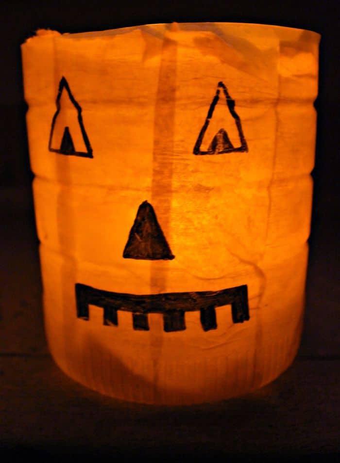 scary pumpkin luminaries