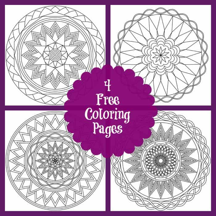 4 Free Coloring Pages