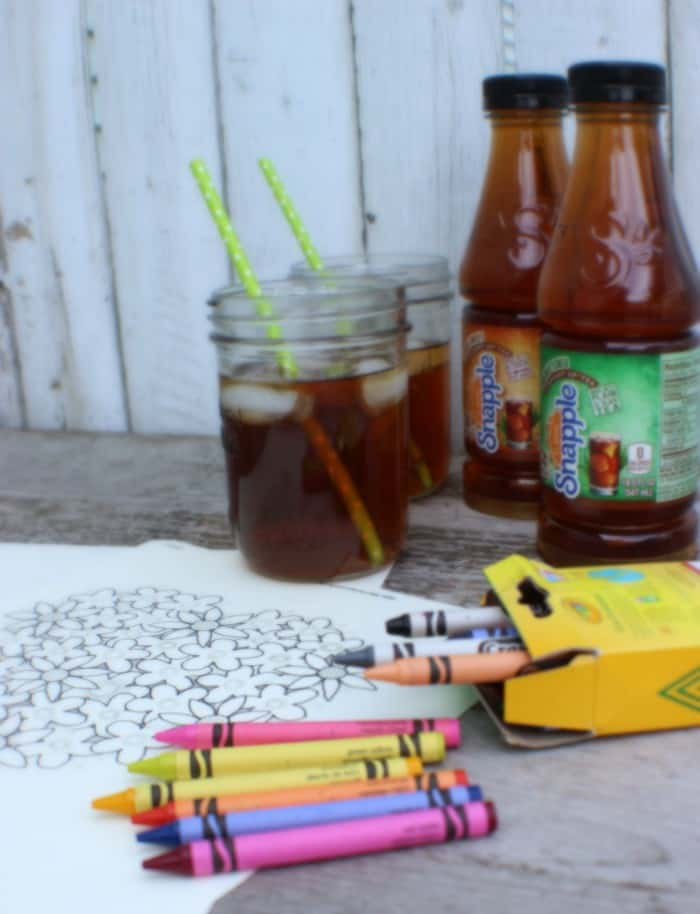 Adult Coloring Sheets Snapple Tea