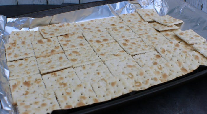 Cracker Candy on the tray