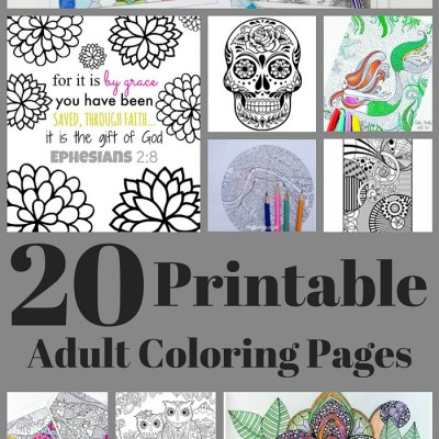 20 Free Adult Coloring Pages www.just2sisters.com