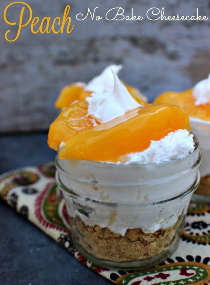 Peach No Bake Cheesecake