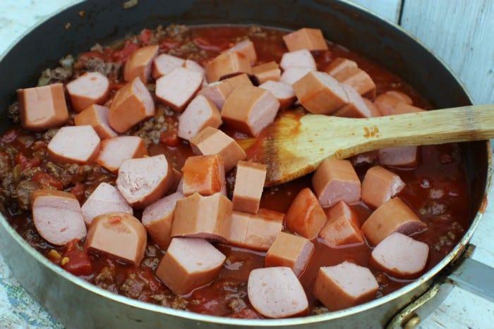 Spicy Chili Dog Casserole Hot Dogs