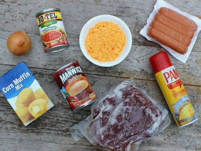 Spicy Chili Dog Casserole Ingredients