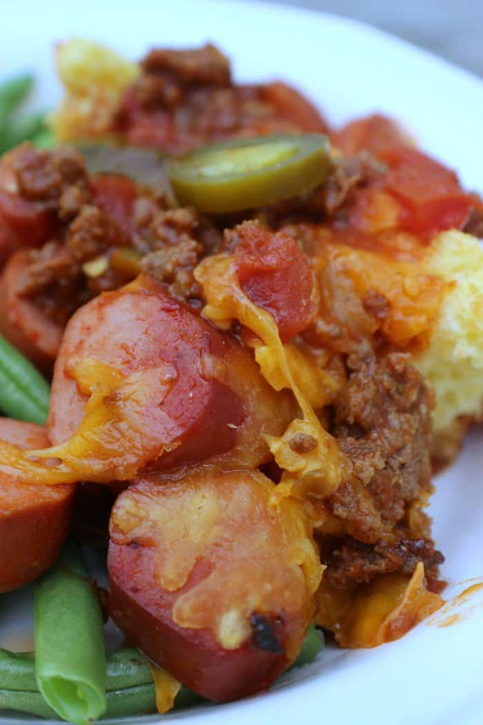 Spicy Chili Dog Casserole Servings