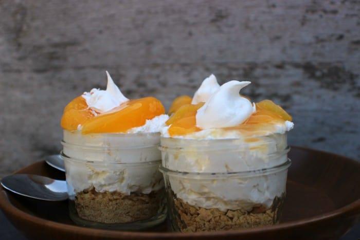 Peach No Bake Cheesecake Dessert