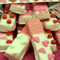 White Chocolate Dipped Sugar Wafers