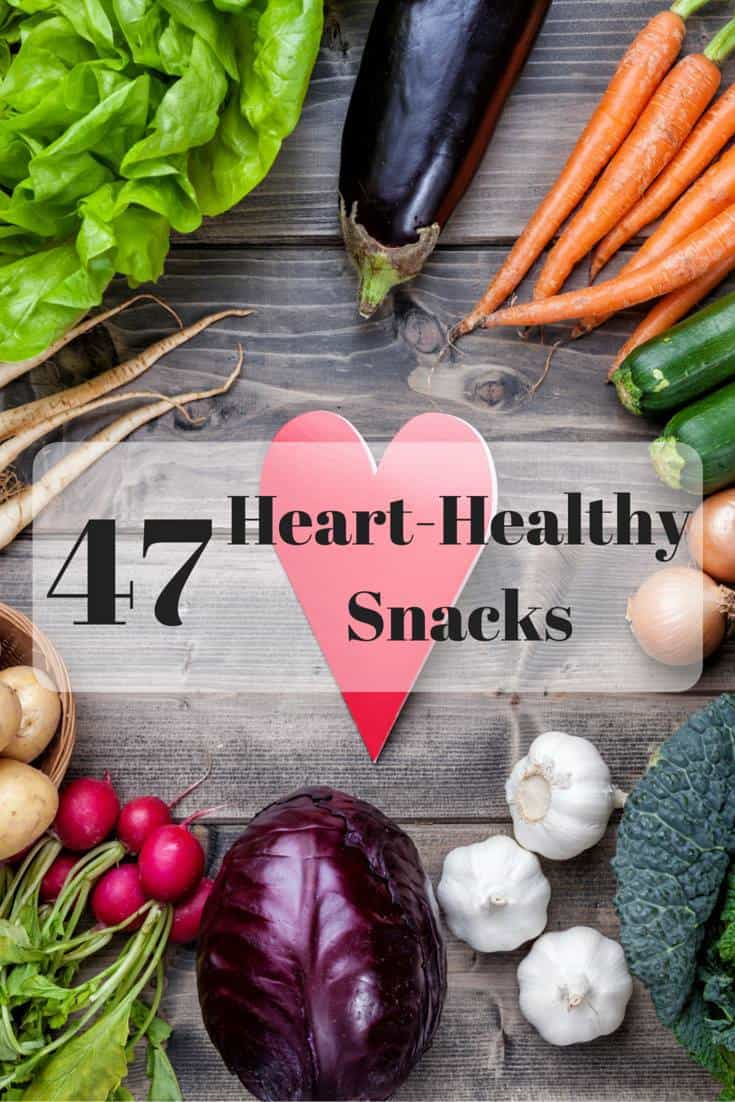 47 Heart Healthy Snacks. Grab this printable list and eat better on a healthy lifestyle journey.