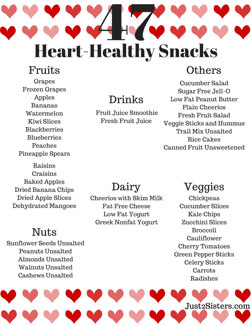 47 Heart-Healthy Snack Ideas