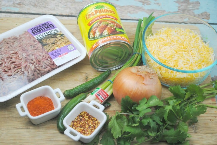 Beef Enchilada Casserole Ingredients.
