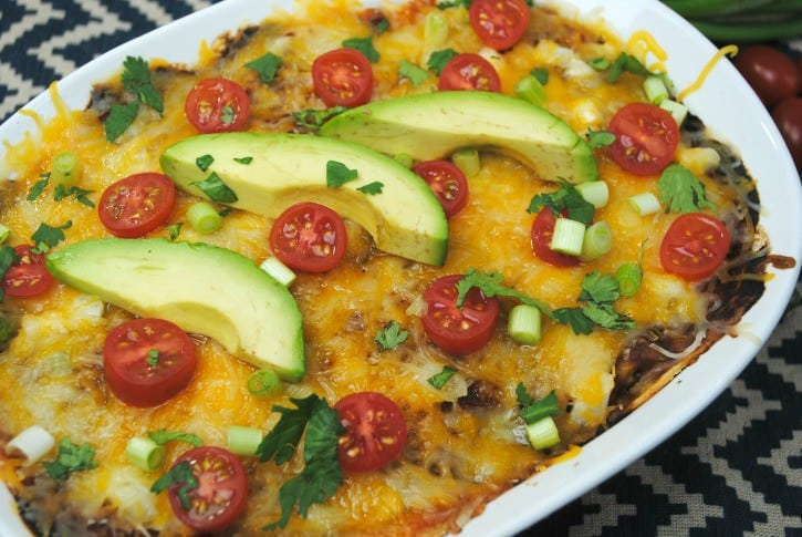 Beef Enchilada Casserole an easy and delicious casserole.