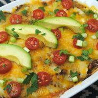 Easy Beef Enchilada Casserole