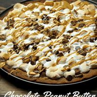 Chocolate Peanut Butter Dessert Pizza